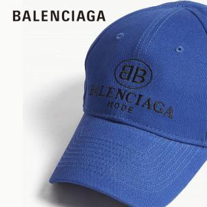 バレンシアガ BBロゴ ベースボールキャップ  BALENCIAGA  ブルー|jurer-store
