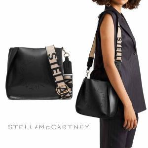 ステラマッカートニー ステラロゴ STELLA LOGO トート ショルダーバッグ ブラック Stella McCartney|jurer-store