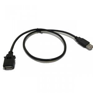 ホンダ ロアパネル専用USBケーブル Type2 60cm(フィット ヴェゼル ステップワゴン N-WGN ジェイド グレイス シャトル等) USBアダプタ用 Jusby|jusby-auto