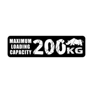 スズキ ジムニー JB64/JB23/JA12等 最大積載量ステッカー MAXIMUM LOADING CAPACITY 200kg 耐候 耐水 耐熱 ドレスアップ 新型ジムニー jusby-auto
