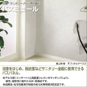 フクビ バスパネル バスリブ 天井 壁用 BM 2.4m 3m バスミュール 浴室・サニタリーゾーン用内装材 バラ売り|jusetsuhills