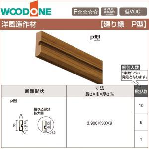 WOODONE ウッドワン 造作材 廻り縁 P型 30mm幅 DIFP03-□ 洋風造作材 造作部材...