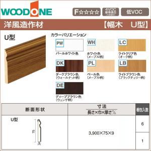 WOODONE ウッドワン 造作材 巾木 U型 75mm幅 DJFU63-□ 造作材 洋風造作材 造...