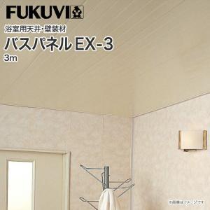 フクビ バスパネル バスリブ 天井 壁用 EX3 3m 1枚|jusetsuhills