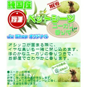 純 国産 厚手 ペットシーツ ユーカリ の 香り付 レギュラー 400枚 送料無料(国産 犬 ペットシート トイレ)|jushopy|02