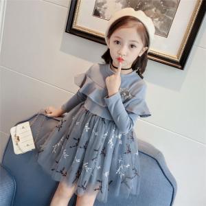 子供ワンピース 子どもドレス ベビー 赤ちゃん 女の子 長袖 発表会 韓国子供服 ふわふわ フォーマ...