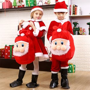 サンタ コスプレ 子供 男の子 女の子 クリスマス サンタ 衣装 サンタクロース コスチューム 3点セット キッズ 仮装 クリスマス祭 just-for-you