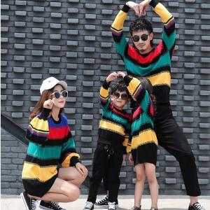 親子 ペアルック カップル 親子ペア 子供 レディース メンズ セーター ニット パーカー 秋冬 夫婦 お揃い もこもこ 韓国 暖かい かわいい 長袖|just-for-you