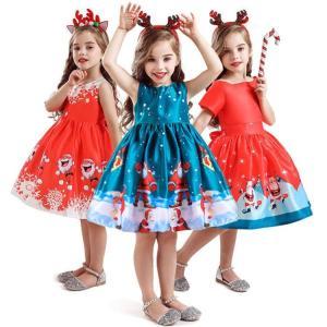 サンタ コスプレ 子供 ワンピース 女の子 クリスマス サンタ 衣装 サンタクロース コスチューム ハロウィン キッズドレス 仮装 クリスマス祭 イベント just-for-you