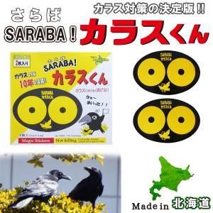 ■商品名   SARABA サラバ カラスくん ステッカー2枚入り ■寸法    7cm×11cm ...
