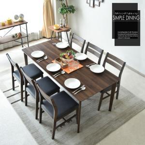 【商品コード:cs-188】  おしゃれなダイニングテーブル7点セット6人用  ■材質 ・テーブルメ...