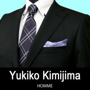 春夏 / ユキコ キミジマ / 2ボタンスーツ / 黒 / A体(ノータックパンツ) / BB体(1タックパンツ)|justman