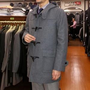 秋冬 / ダッフルコート / 裏地中綿キルト / グレー / M ・ L ・ LL ・ 3L|justman