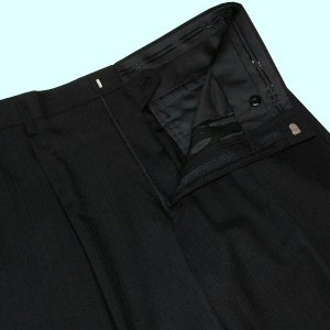 春夏 / ロンナー LONNER / 2ボタン ニュークラシックスーツ / 黒(シャドーストライプ) / NIKKE生地使用 / 日本製 / AB ・ BB ・ E justman 05