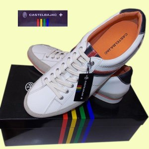 カステルバジャック| メンズ|レザーシューズ|スニーカー|靴|ネイビー|CASTELBAJAC||justman