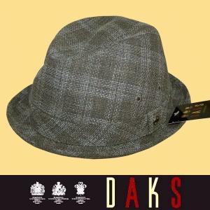 春夏 / ダックス DAKS / 中折れ帽 / グレー(チェック) / 日本製 / 60|justman