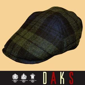秋冬 / ダックス コーデュロイ ハンチング帽子 / ブラックウォッチ / 日本製|justman