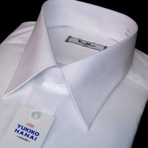 ユキコ ハナイ 長袖レギュラーカラー シャツ / 白無地 / 吸水防汚・形態安定 / 綿100% / 首回37〜45センチ / 袖丈バリエーション豊富|justman