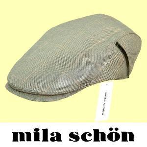 春夏 / ミラショーン mila schon / ハンチング帽子 / グレー系 / 日本製 / L ・ LL|justman
