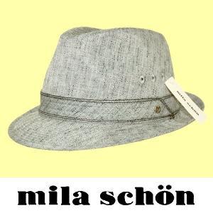 春夏 / ミラショーン mila schon / 中折れ帽子 / グレー / 日本製 / 59cm|justman