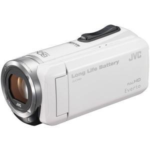 【新品・即納】JVC (ビクター/VICTOR) ビデオカメラ 小型 ハイビジョンメモリームービー Everio(エブリオ) フルハイビジョン (フルHD)  ホワイト GZ-F100-W justme