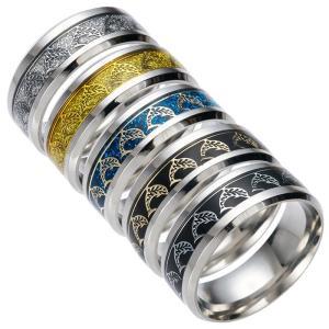 チタンリング イルカ メンズ メタルリング シンプル アクセサリー 指輪