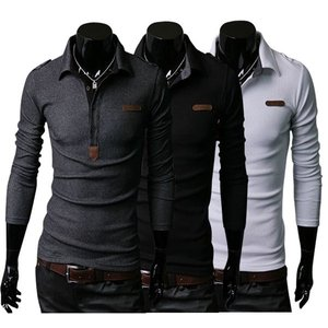 新作 ポロシャツ メンズ 長袖 無地 カジュアル シンプル ビジネス対応 3色 大きいサイズ   ア...