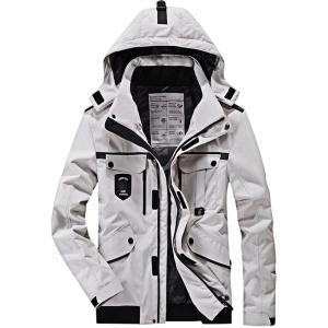 中綿コート メンズ ジャケット 撥水加工 新作 厚手 防風 保温 フード取り外し可能    アイテム...