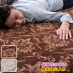 敷きパッド 敷パット ベッドパッド シングル マイクロフリース敷パッド 敷き毛布 ふとん 敷毛布 寝具 あったか 保温わた入りマイクロフリース敷パッド|justpartner