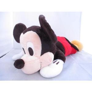 中古品 ディズニー ぬいぐるみ ミッキーマウス 寝そべり|justy-net