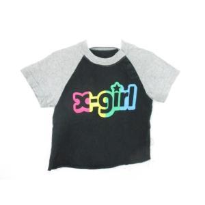 同梱可 エックスガール X-girl Tシャツ 2T 黒 ブラック キッズ|justy-net