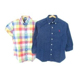 良品 同梱可 ジムフレックス Gymphlex デニムシャツ 長袖シャツ 2点 12 キッズ 男の子|justy-net