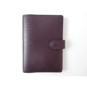 ルイヴィトン LOUIS VUITTON 服飾小物 エピ 手帳カバー レザー 赤紫 アジェンダPM justy-net