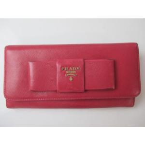 プラダ PRADA 服飾小物 レディース財布 二つ折り長財布 リボン ピンク justy-net