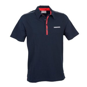 LIEBHERR リープヘル 重機 ポロシャツ ダークブルー Polo shirt|juuki