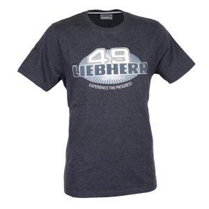 LIEBHERR リープヘル 重機 Tシャツ グレー ラウンドネック T-shirt juuki