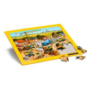 LIEBHERR リープヘル 重機 Jigsaw puzzle with frame 36pcs. 36x28cm ジグソーパズル|juuki