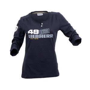 LIEBHERR リープヘル 重機 レディース 長袖Tシャツ Ladies' long-sleeve T-shirt|juuki