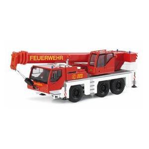 LIEBHERR リープヘル 重機 HERPA社製 HOスケール (1:87)LIEBHERR LTM1045 消防隊|juuki
