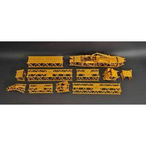 LIEBHERR リープヘル 重機 LTM11200-9.1 54mジブ用グレーチングセット (エッチングパーツ 標準イエロー塗装)|juuki
