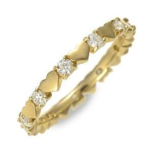送料無料 ゴールド リング 指輪 ダイヤモンド ハート 彼女 誕生日プレゼント 記念日 ギフト 妻 おしゃれ かわいい あすつく Ache|jwell