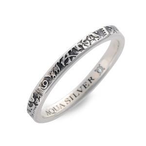 シルバー リング 指輪 ダイヤモンド 当店オリジナル 彼氏 誕生日プレゼント 記念日 ギフトラッピング アクアシルバー メンズ|jwell