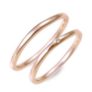 ピンクゴールド マリッジリング 結婚指輪 ペアリング ダイヤモンド 名入れ 刻印 ペア プレゼント ジェイオリジナル 送料無料|jwell