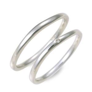 ホワイトゴールド マリッジリング 結婚指輪 ペアリング ダイヤモンド 名入れ 刻印 ペア プレゼント ジェイオリジナル 送料無料|jwell