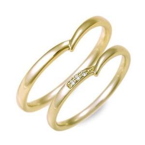 ゴールド マリッジリング 結婚指輪 ペアリング ダイヤモンド 名入れ 刻印 ペア プレゼント ジェイオリジナル 送料無料|jwell