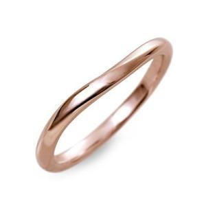 送料無料 ピンクゴールド リング 指輪 マリッジリング 結婚指輪 彼氏 記念日 ギフトラッピング ウィスプ 誕生日|jwell