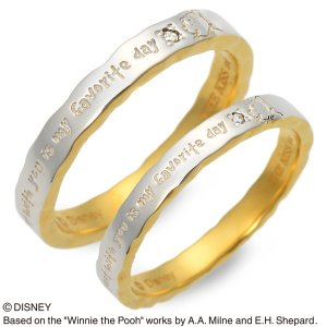 Disney シルバー ペアリング ダイヤモンド ペア ザキッス ザキス ザ・キッス ディズニー プーさん 結婚指輪 マリッジリング 送料無料|jwell