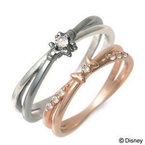 Disney シルバー ペアリング ペア 誕生日プレゼント 記念日 ザキッス ザキス ザ・キッス ディズニー ミッキーマウス ミニーマウス jwell