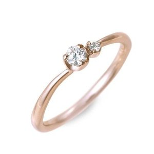 ピンクゴールド エンゲージリング 婚約指輪 リング 指輪 ダイヤモンド 名入れ 刻印 彼女 プレゼント ジェイオリジナル 誕生日 送料無料|jwell
