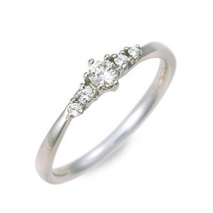 ホワイトゴールド エンゲージリング 婚約指輪 リング 指輪 ダイヤモンド 名入れ 刻印 彼女 プレゼント ジェイオリジナル 誕生日 送料無料|jwell